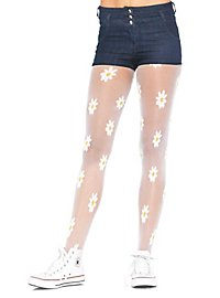 Pantyhose with daisies