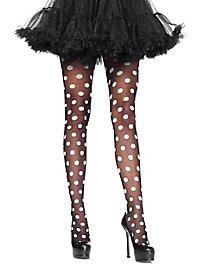 Pantyhose with Polka Dots black-white