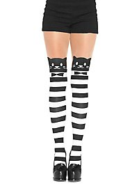 Pantyhose with striped cats