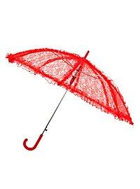 Parapluie en dentelle rouge