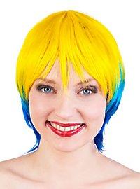 Party Girl blau-gelb Perücke