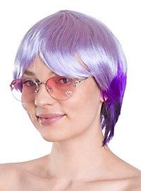 Party Girl violett Perücke
