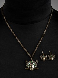 Parure de bijoux « pirates maudits » verte