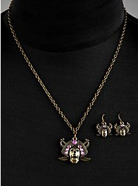 Parure de bijoux « pirates maudits » violette
