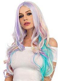Pastel curly wig rainbow