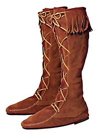 Peasant Boots brown with fringe