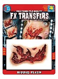 Peau arrachée 3D FX Transfers