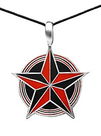 Pentacle Necklace black & red
