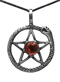 Pentagramm Kette mit Midgardschlange