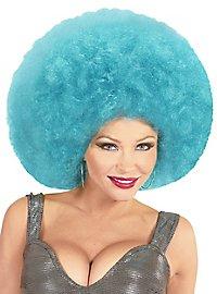Perruque afro XXL bleu clair