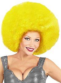 Perruque afro XXL jaune