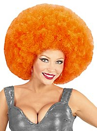 Perruque afro XXL orange