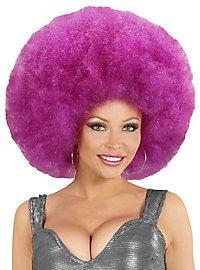 Perruque afro XXL violette