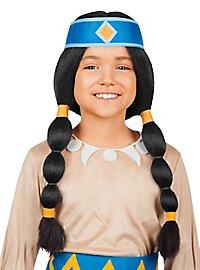Perruque Arc-en-Ciel Yakari pour enfant