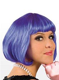 Perruque coupe au carré bleue