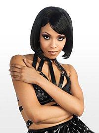 Perruque coupe au carré noire Rihanna