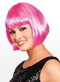 Perruque coupe au carré rose clair