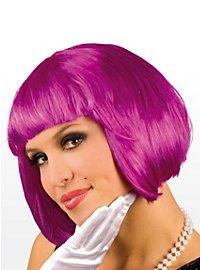 Perruque coupe au carré violette
