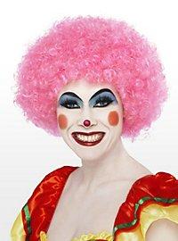Perruque de clown rose