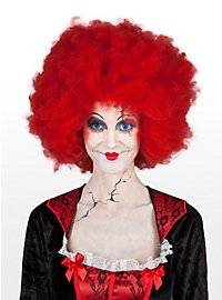 Perruque de clown rouge