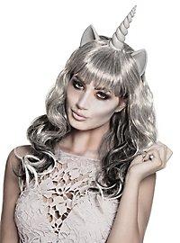 Perruque de licorne zombie