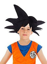 Perruque de Sangoku Dragon Ball Z noire pour enfant