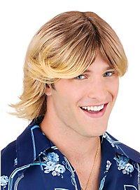 Perruque de surfeur blond
