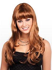 Perruque longue marron