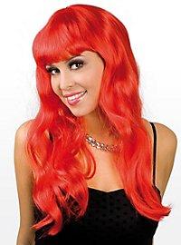 Perruque longue rouge