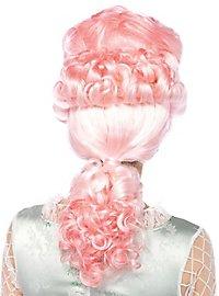 Perruque rococo rose