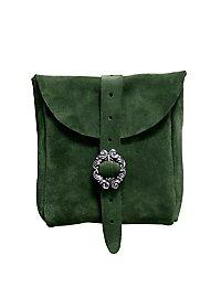 Petite sacoche de ceinture en daim vert