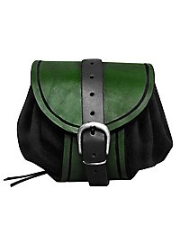 Petite sacoche en cuir vert