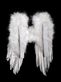 Petites ailes en plumes blanches