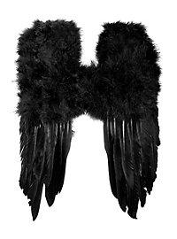 Petites ailes en plumes noires