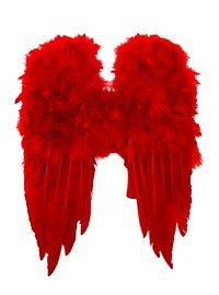 Petites ailes en plumes rouges