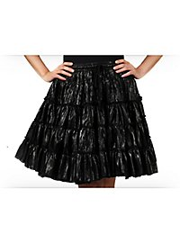 Petticoat black & metallic mid-length