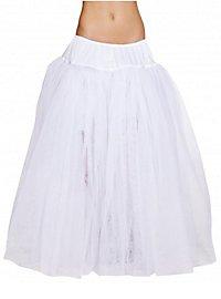 Petticoat bodenlang weiß
