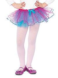 Petticoat für Kinder glitzer blau-pink