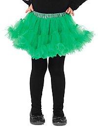 Petticoat für Kinder kurz grün