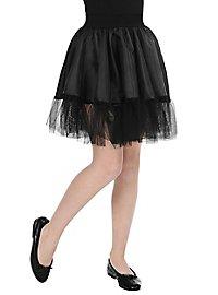 Petticoat für Kinder lang schwarz
