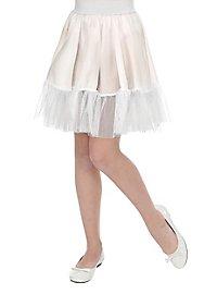 Petticoat für Kinder lang weiß