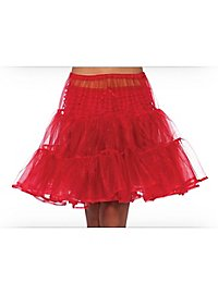 Petticoat knee-length red