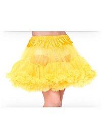 Petticoat kurz gelb