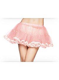 Petticoat kurz mit pinkem Satinsaum