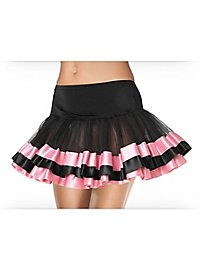 Petticoat kurz mit rosa Satinsaum