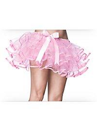 Petticoat kurz mit Schleife rosa