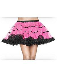 Petticoat kurz pink-schwarz