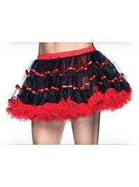 Petticoat kurz schwarz-rot