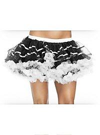 Petticoat kurz schwarz-weiß