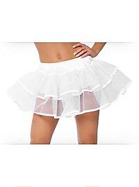 Petticoat mit Doppellage weiß